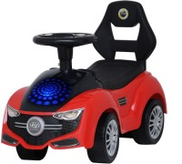 HAPPY KIDS FREE WHEEL RIDE ON CAR WITH DISCO LED LIGHTS, HORN, WITH DIFFERENT MUSIC, STORYS, MELODY (Red)