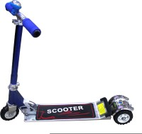 Scrazy Blue Three Wheel Skate Scooter With Bell (Blue)