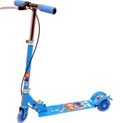Naughty Kid Foldable Star Scooter With Hand Brakes With Led Lights In Wheels (Blue)