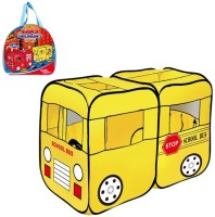 Toys Bhoomi Children's School Bus Play Tent - 100% Safe Polyester Fabric (Yellow)