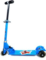 Grabby Three Wheel Metal Folding Skate Scooter With Led Lights-G0490ss-Blue (Blue)