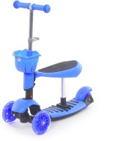 The Flyer's Bay 3 In 1 Sit Or Kick & Height Adjustable Scooter For Kids (Blue)
