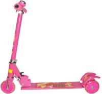 NDS 3 Wheel Skating Scooter With Shock Absorbers And Bell For Kids (foldable, Height Adjustable) (Pink)