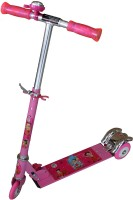 AdraxX Pink Tri-wheel Scooty With PU With LED Lights For Kids (Pink)