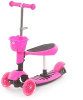 The Flyer's Bay 3 In 1 Sit Or Kick & Height Adjustable Scooter For Kids (Pink)