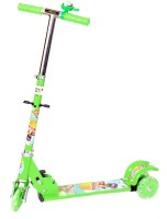 Naughty Kid Naughty 3 Wheel Bell Scooter With Shockers (Green)