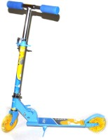 Grabby Two Wheel Heavy Metal Folding Skate Scooter (Blue, Yellow)