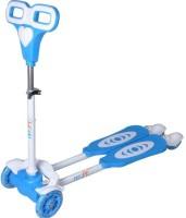 Dragon 4 Wheel Zip Flick Style Double Board Self Propelled Kid Child Foot Scooter (Blue)