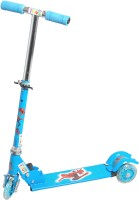 Grabby Three Wheel Metal Folding Skate Scooter With LED Lights (Blue)