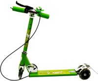 Zaprap Three Wheel Green Scooter For Kids With Handbrake And Led Light (Green)
