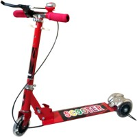 Zaprap Red Alloy Steel Body 3 Wheel Kick Scooter For Kids With Brakes & Bell (Red)