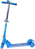 Zaprap Three Wheel Blue Scooter For Kids With Handbrake And LED Light (Blue)