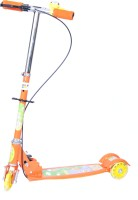 Happy Kids Foldable And Height Adjustable Scooter With Brakes For Kids (Glide) (Orange)