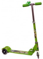 MERATOY.COM 3 WHEEL KICK SCOOTER FOR KIDS WITH LED LIGHTS ON WHEELS (Green)