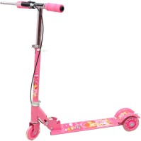Naughty Kid Foldable Star Scooter With Hand Brakes With Led Lights In Wheels (Pink)