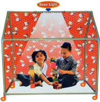 Planet Of Toys Global Play Tent House (With Wheels & Led Lights) (Multicolor)