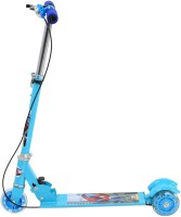 Galaxy Toys 3 Wheel Folding Scooter For Kids - Led Lights On Wheels, Height Adjustable, Bell & Brake (Blue)
