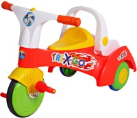 A Smile Toys & More Trikes Tricycle With Heavy Wheel & Bucket For Storage (Non-Toxic) (White, Blue)