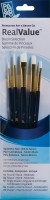 Princeton Real Value Round, Angle Shader, Shader Paint Brushes (Set Of 5, Royal Blue)