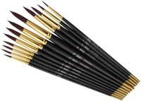 Bianyo Round Paint Brushes (Set Of 12, Black)