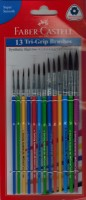 Faber Castell Synthetic Round Paint Brushes (Set Of 13, Multicolor)