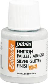 Pebeo Setacolor Silver Glitter Finish
