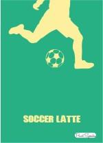 PrintSpeaks SoccerLatte 16X20 inch