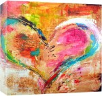 Printasia,In 1 painting of a beautiful heart Canvas oil painting print | printasia