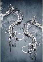 Artzfolio Fatasy Dragon Tattoo Art Framed Art Print