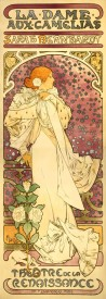 The Museum Outlet La Dame Aux Camelias by Alphonse Mucha - Canvas Print Online Buy (30 X 40 Inch) Canvas Painting