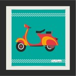 PrintSpeaks Scooter PhotoArt 14X14 inch