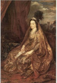 Snapgalaxy Art Panel - Portrait of Elisabeth Theresa by Van Dyck Canvas Painting