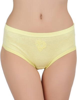 Vaishma Women's Brief Panty (Yellow)