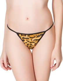 Clovia Brief in Leopard Print Women's Thong Panty