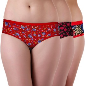 Tweens Women's Hipster Red Panty Pack Of 3