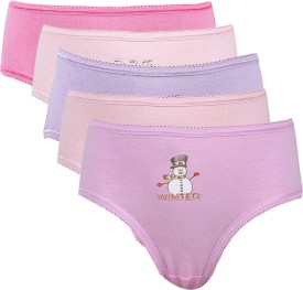 Kiwikids Girl's Brief Panty (Pack Of 5)