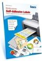 Saco 12 A4 Size Self-adhesive Paper Label - White