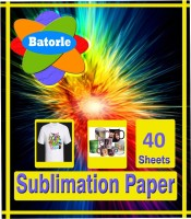 Batorle Sublimation Paper 40 Unruled A4 Photo Paper (Set Of 1, WHITE)