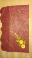 Shagun Ghar-Ghar 101 Unruled A4 Envelope (Set Of 1, Brown, Red)