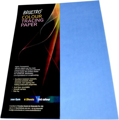 Buy brustro colour tracing paper unruled a4 drawing paper for Buy blueprint paper