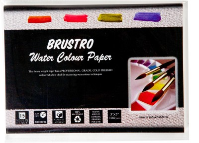 Buy Brustro Watercolor Paper 300 gsm Pack (5