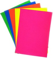 Ziggle Fluorescent Unruled A4 Craft Paper (Set Of 5, Mango, Blue, Orange, Pink, Green)