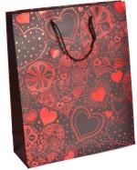 Enwraps Red Heart Print Big