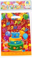 Funcart Three Tier Cake Lootbag Printed Party Bag (Multicolor, Pack Of 6)