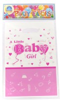 Funcart Little Baby Girl Lootbag Printed Party Bag (Pink, Pack Of 6)