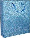 R S Jewels Paper Handmade Recycled Printed Party Bag - Silver, Blue, Pack Of 10