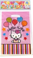 Funcart Hello Kitty Lootbag Printed Party Bag (Pink, Pack Of 6)