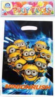 Funcart Despicable 2 Lootbag Printed Party Bag (Blue, Pack Of 6)