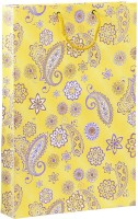 Bdpp Paper Processers Multicolor Paisley Printed Party Bag (Yellow, Blue, Pack Of 10)
