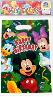 Funcart Mickey Mouse Lootbag Printed Party Bag (Multicolor, Pack Of 6)